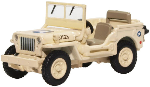 Oxford Diecast Willys MB Usaaf Tunisia 1943