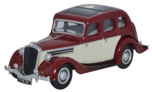 Oxford Diecast Wolseley 18/85 Maroon/Ivory - 1:76 Scale