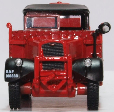Oxford Diecast Ford WOT1 Crash Tender Raf Catterick (red)