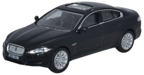 Oxford Diecast Jaguar XF Saloon Ultimate Black - 1:76 Scale