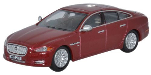 Oxford Diecast Jaguar XJ Saloon Carnelian Red - 1:76 Scale