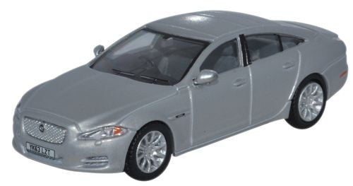 Oxford Diecast Jaguar XJ Saloon Rhodium Silver - 1:76 Scale