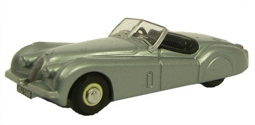 Oxford Diecast Jaguar XK120 Silver - 1:76 Scale