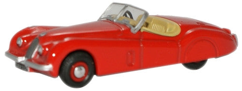 Oxford Diecast Red Jaguar XK120 - 1:76 Scale