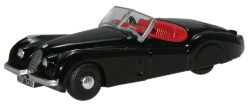 Oxford Diecast XK120 Black - 1:76 Scale