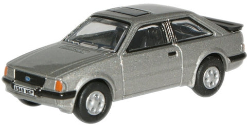 Oxford Diecast Strato Silver Ford Escort XR3i - 1:76 Scale