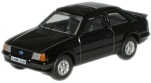 Oxford Diecast Black Ford Escort XR3i - 1:76 Scale