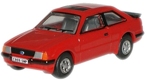 Oxford Diecast Rosso Red Ford Escort XR3i - 1:76 Scale