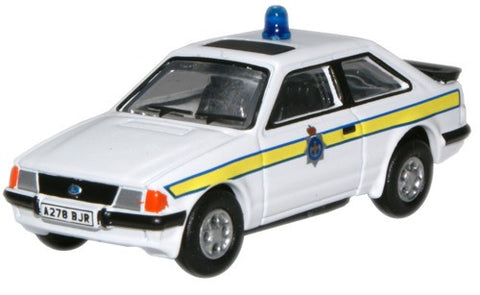 Oxford Diecast Durham Police Ford Escort XR3i - 1:76 Scale