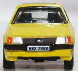 Oxford Diecast Ford Escort XR3i Prairie Yellow