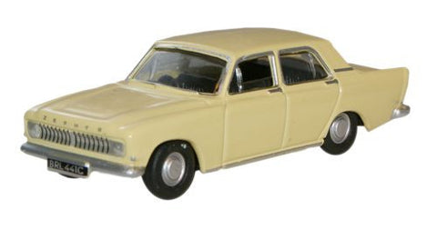 Oxford Diecast Tuscan Yellow Ford Zephyr - 1:76 Scale