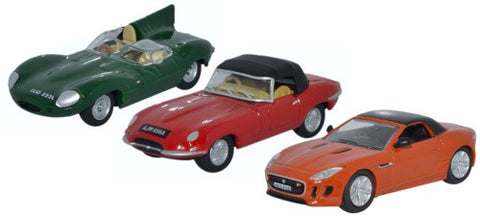 Oxford Diecast 3 Piece Jaguar Set