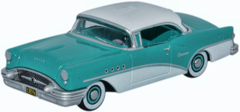 Oxford Diecast Buick Century 1955 Turquoise and Polo White