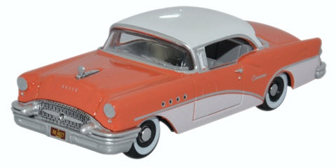 Oxford Diecast Buick Century 1955 Coral Polo White