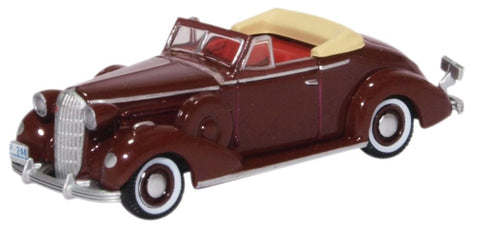 Oxford Diecast Buick Special Convertible Coupe 1936 Cardinal Maroon