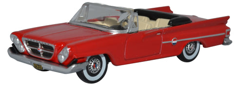 Oxford Diecast Chrysler 300 Convertible Open 1961 Mardi Gras Red 1:87