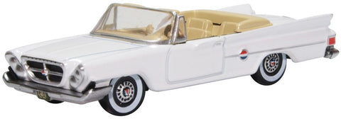 Oxford Diecast Chrysler 300 Convertible 1961 Open Top Alaskan White