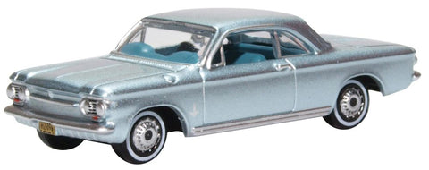 Oxford DIECAST 1:87 Scale Chevrolet Corvair Coupe 1963 Satin Silver