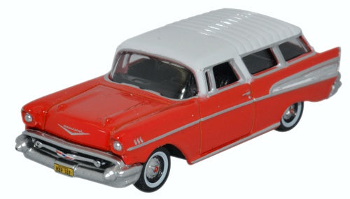 Oxford Diecast Chevrolet Nomad 1957 Rio Red/arctic White