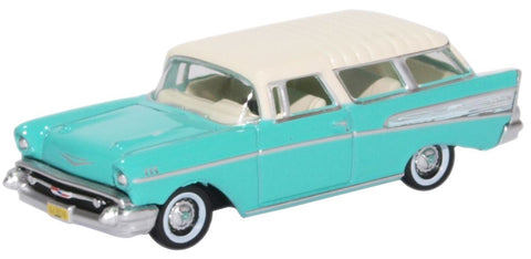 Oxford Diecast Chevrolet Nomad 1957 Surf Green India Ivory