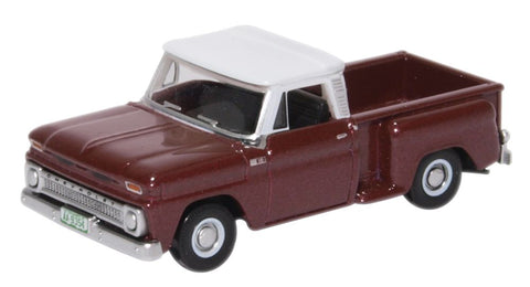 Oxford Diecast Chevrolet Stepside Pick Up 1965 Maroon Metallic