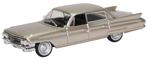 Oxford Diecast Cadillac Sedan Deville 1961 Aspen Gold Metallic