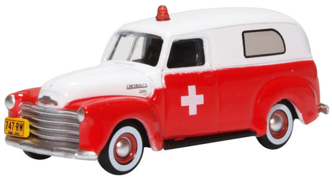 Oxford Diecast Chevrolet Panel Van 1950 Ambulance