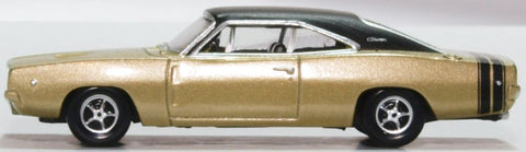 Oxford Diecast Dodge Charger 1968 Gold and Black