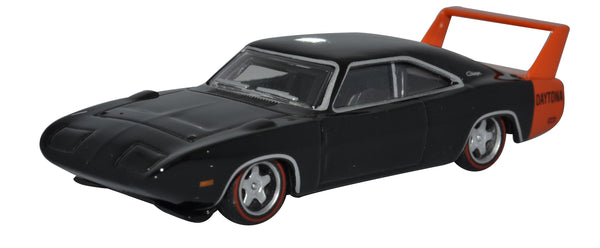 Oxford Diecast Dodge Charger Daytona 1969 Black 1:87