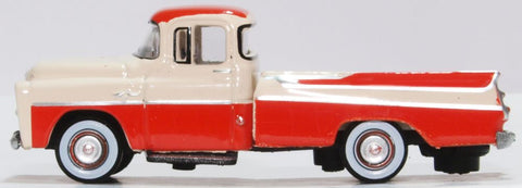 Oxford Diecast Dodge D100 Sweptside Pick Up 1957 Tropical Coral/glacie 1:87