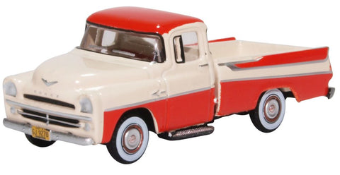 Oxford Diecast Dodge D100 Sweptside Pick Up 1957 Tropical Coral/glacie