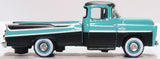 Oxford Diecast Dodge D100 Sweptside Pick Up 1957 Turquoise/Jewel Black