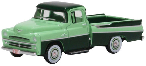 Oxford Diecast Dodge D100 Sweptside Pick Up 1957 Forest Green/misty Gr