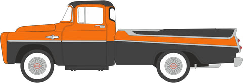 Oxford Diecast Dodge D100 Pick Up 1957 Omaha Orange and Jewel Black