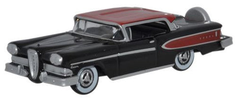 Oxford Diecast Edsel Citation 1958 Black_Amber Red - 1:87 Scale