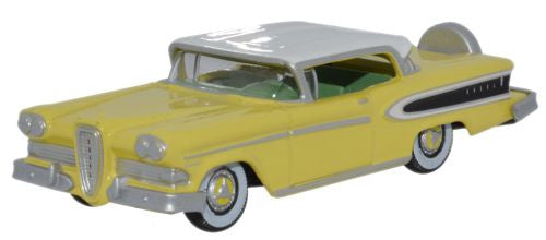 Oxford Diecast Edsel Citation 1958 Yellow_Frost White - 1:87 Scale