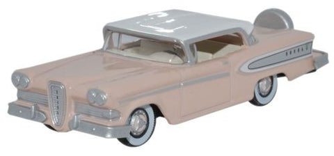 Oxford Diecast Edsel Citation 1958 Chalk Pink_Frost White - 1:87 Scale