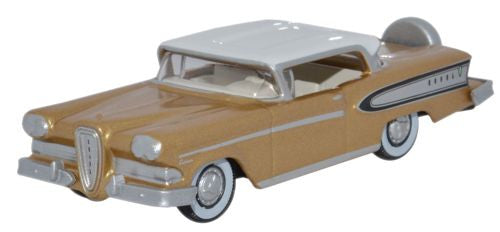 Oxford Diecast Edsel Citation 1958 Gold Metallic_Frost White - 1:87 Sc