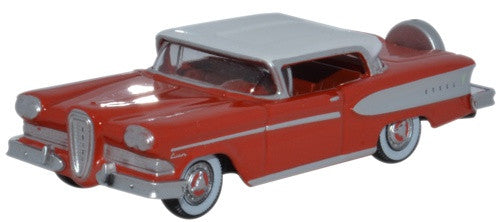 Oxford Diecast Edsel Citation 1958 Ember Red Frost White
