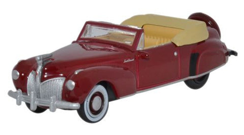 Oxford Diecast Lincoln Continental 1941 Maroon - 1:87 Scale