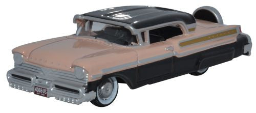 Oxford Diecast 1957 Mercury Turnpike Black/Pastel Peach - 1:87 Scale - OxfordDiecast
