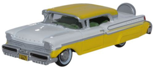 Oxford Diecast 1957 Mercury Turnpike Moonmist Yellow/Classic White - 1