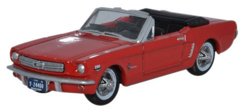 Oxford Diecast 1965 Ford Mustang Convertible Poppy Red - 1:87 Scale - OxfordDiecast