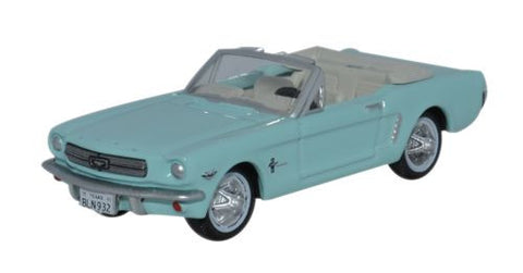 Oxford Diecast 1965 Ford Mustang Convertible Tropical Turquoise - 1:87 - OxfordDiecast