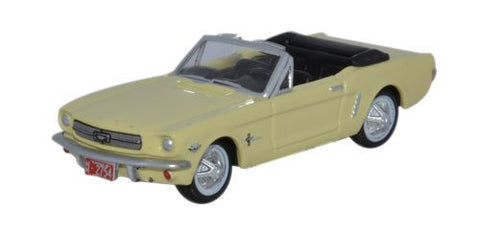 Oxford Diecast 1965 Ford Mustang Convertible Springtime Yellow - 1:87