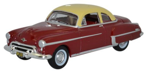 Oxford Diecast Oldsmobile Rocket 88 Coupe 1950 Chariot Red/canto Cream