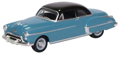 Oxford Diecast Oldsmobile Rocket 88 Coupe 1950 Crest Blue/black