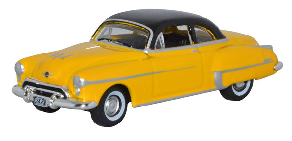 Oxford Diecast Oldsmobile Rocket 88 Coupe 1950 Yellow Black