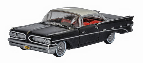 Oxford Diecast Regent Black and White Pontiac Bonneville Coupe 1959