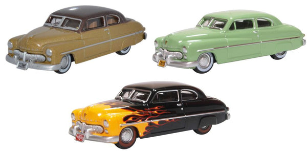 Oxford Diecast 3 Piece 1949 Mercury Set 70th Anniversary